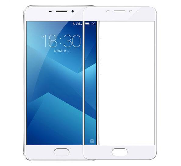 Full Cover защитное стекло для Meizu M5 Note - White