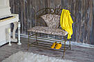 Кованая банкетка со спинкой «Прованс», фото 3