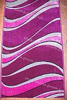 Дорожка ковровая волна фиолетовая