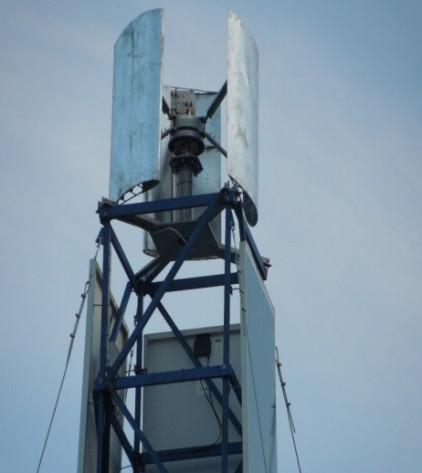 Ветрогенератор VAWT DPV HYBRID MINI 1.5 кВт