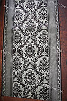 Дорожка ковровая коричневая композиция
