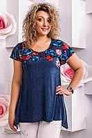 женская летняя блуза туника больших размеров