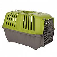 MPS (МПС) Pratico 1 контейнер для транспортировки животных с пласт. дверцей, зеленый 33x31,5x48 см
