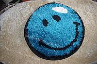 """Коврик """"голубой смайлик"""" 67 см"""
