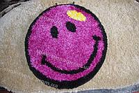"""Коврик """"фиолетовый смайлик"""" 67 см"""