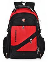 Рюкзак швейцарского бренда Wenger SwissGear. Модель 1418 (красный).