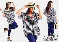 Женский летний костюм блуза+лосины  размер 50, 52, 54