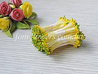 Тайские тычинки желтые каплевидные с зеленым кончиком