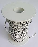 Линь для гарпуна Omer Dyneema 2 мм; белый в чёрную полоску