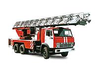 Автовышка  пожарная Ал37 на базе Магирус