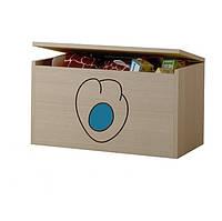 Ящик для игрушек гравированная голубая лапка котенка Baby Boo 100094