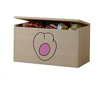 Ящик для игрушек гравированная розовая лапка котенка Baby Boo 100095