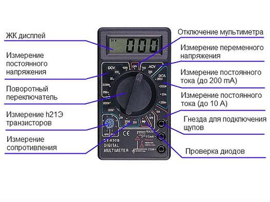 Цифрофой тестер, мультиметр 830 B