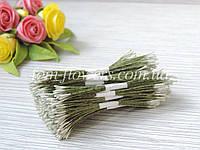 Тайские тычинки удлиненные на зеленой нитке