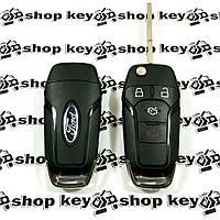 Выкидной ключ для Ford (Форд) 3 кнопки + 1 (panic) 315 MHz, чип 4D63 80bit, лезвие HU101