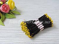 Тайские тычинки желтые, мелкие на черной нитке