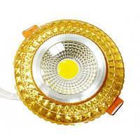 LED светильник декоративный LEDEX круг 6W COB light RGB 3000K Gold 480Lm