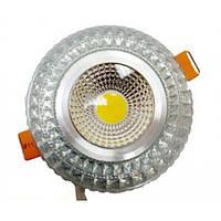 LED светильник декоративный LEDEX круг 6W COB light RGB 3000K Silver 480Lm