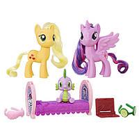 Игровой набор Hasbro MLP Пони-модницы парочки Twilight Sparkle и Applejack (B9160-B9850)