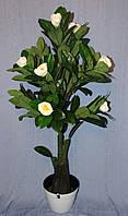 Дерево искусственное Магнолия цветущая белая