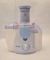 Электросоковыжималка CRYSTAL 500W CR-303, электрическая соковыжималка для для овощей и фруктов