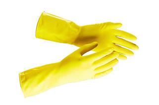 Перчатки хозяйственные, резиновые