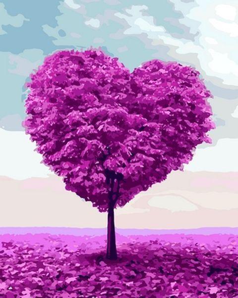 Картини по номерах 40×50 см. Дерево любви