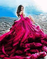 Картины по номерам 40×50 см. Девушка в розовом
