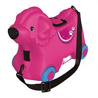 Чемодан - каталка на колесиках розовый BIG 55353