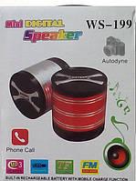 Беспроводная портативная колонка WS-199 Mini digital speaker Bluetooth