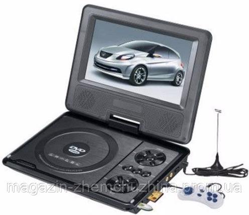 Портативный аккумуляторный мультимедийный DVD-плеер с SD PDVD NS-758, портативный dvd проигрыватель 7 дюймов, фото 2