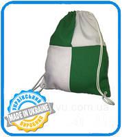 Рюкзак габардин клетка для сублимации цвет Зеленый