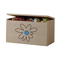 Ящик для игрушек гравированный голубой цветок Baby Boo 100100
