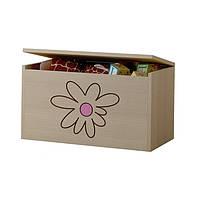Ящик для игрушек гравированный розовый цветок Baby Boo 100101