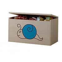 Ящик для игрушек гравированная голубая улитка Baby Boo 100103