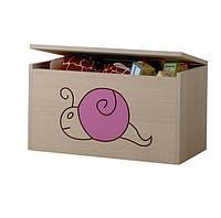 Ящик для игрушек гравированная розовая улитка Baby Boo 100104