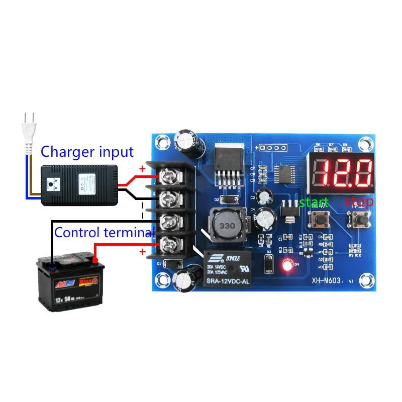 Контролер Управления зарядкой, Зарядка Аккумулятора Pb, li-ion 6-60V