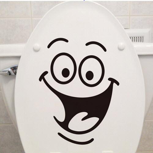 """Наклейка на стіну, вінілові наклейки, прикраси стіни наклейки """"Посмішка для туалету, ноутбука"""" 18*24см"""