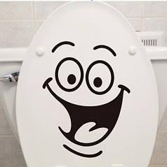 """Наклейка на стену, виниловые наклейки, украшения стены наклейки """"Улыбка для туалета, ноутбука"""" 18*24см"""