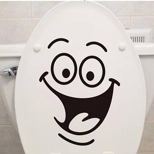 """Наклейка на стіну, вінілові наклейки, прикраси стіни наклейки """"Посмішка для туалету, ноутбука"""" 18*24см, фото 2"""