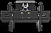 """Кронштейн HAMMER 23""""-70"""" - кріплення для монітора, телевізора або проектора на стіну, фото 2"""