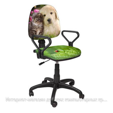 Детское кресло Престиж РМ Котенок и щенок