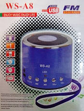 Портативная FM MP3 колонка WSTER WS-A8, фото 2