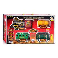 Паровоз 2413 (18) дым, свет, звук, на батарейке, в коробке