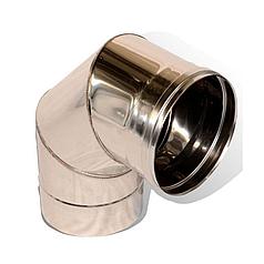 Колени 90° для дымохода одностенные из нержавеющей стали