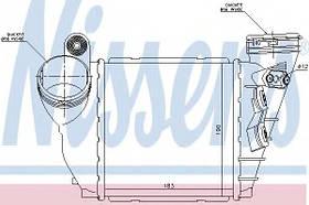 Радиатор интеркулера Volkswagen Golf 4 2000- (1.9TDi) KEMP