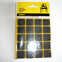 Войлочные подкладки для мебели самоклеящиеся (чёрные).