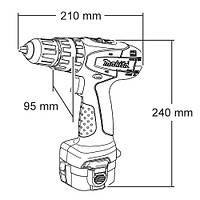 Ударная аккумуляторная дрель-шуруповерт Makita 8281 DWALE