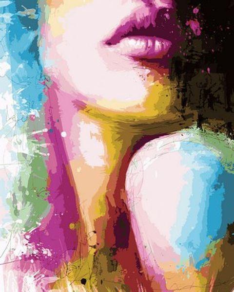 Картина по номерам 40×50 см. Ощутимые губы Художник Патрис Мурчиано