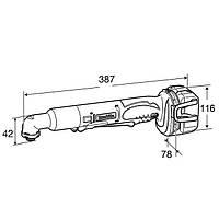 Аккумуляторный угловой шуруповерт Makita DTL 061 RFE